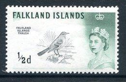 Falkland Islands 1966 Birds - New Wmk. - ½d Thrush MNH (SG 227) - Falkland