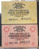 Cassa Veneta Dei Prestiti  50 + 10  Cent 1918  LOTTO 1344 - [ 6] Colonies