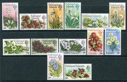 Falkland Islands 1971 Flowers - Decimal Currency Surcharges Set MNH (SG 263-275) - Falkland Islands