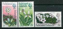 Falkland Islands 1974 Flowers - Change In Wmk. - Set MNH (SG 293-295) - Falkland Islands