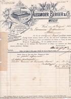 """Fattura Comm.  - Wien , Fabbrica Di Essenze E Importazione Liquori  """" Alexander Berger  & C°. """" - Austria"""