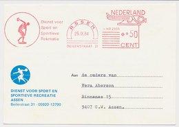 Meter Card Netherlands 1984 Discus Thrower - Assen - Stamps