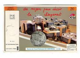 C.P °_ Syndicat-CGT-Vingt Francs-Moyen Pour Réussir-93-Montreuil- R/V - Labor Unions