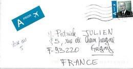 BELGIQUE 2007  / ALBERT II 0.80 Euro Vert  Prioritaire Sur Enveloppe Entière Voyagée Date Illisible Soldée - Belgique
