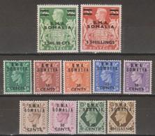 Somalia B.M.A.1948 SaN°10-20 11v Cpl MNH/** - Somalie