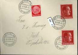 Deutsches Reich, 664 (2x) Mit SST Als MiF Auf Brief Gelaufen - Allemagne