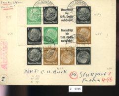 Deutsches Reich, Brief Aus Gebrauchspost Mit Zusammendruck: W 93, W 75, K 22 - Se-Tenant