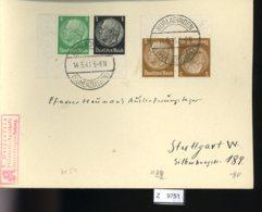 Deutsches Reich, Brief Aus Gebrauchspost Mit Zusammendruck: W 59, K 22 - Se-Tenant