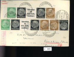 Deutsches Reich, Briefstück Aus Gebrauchspost Mit Zusammendruck: W 59, W 94, W 93, K 22 - Se-Tenant