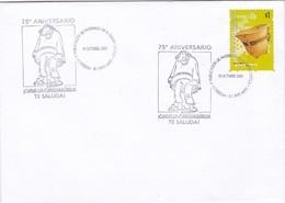 75 ANIVERSARIO 1° PUBLICACION DE PATOURUZU EN EL DIAR-SPECIAL COVER 2003 BUENOS AIRES, ARGENTINE. STAMP GRUPO MBYA-BLEUP - Storia Postale