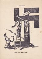 Cpa - Pologne /polska -nie Na Delc. - Staline -la Crucifixion -association  France/ Pologne Fondée En 1919- Croix Gammée - Pologne