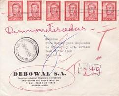 SOBRE COMERCIAL DEBOWAL SA CIRCULADO AÑO 1974 STAMPS UNIES, SURTAXE - BLEUP - Argentinien