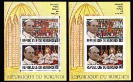 Burundi BL 0032/32A**  Visite Papale En Afrique MNH - 1962-69: Neufs
