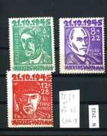 SBZ, Mecklenburg-Vorpommern, X, 20-22 Mit Plattenfehler 22 I - Zone Soviétique