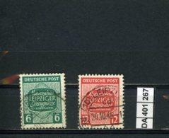 SBZ, O, West- Sachsen, 124 - 125 - Zone Soviétique