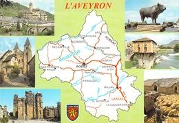 12 - L'Aveyron - Carte Géographique - Multivues - Non Classés