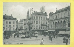 * Antwerpen - Anvers - Antwerp * (Ed Nels, Série 25, Nr 8) Place De Meir, Julien Chemises, Tram, Vicinal, Animée, Café - Antwerpen