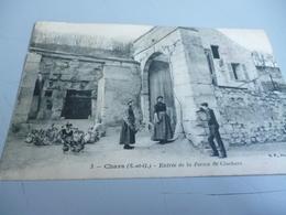 CARTE POSTALE DE CHARS (S Et O ) Entrée De La FERME DE CLOCHARS   Envoyé à Un Prisonnier De Guerre Le 8/4/16 - Chars