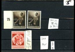 Deutsches Reich, Xx, 2 Lose U.a. 744, X 701 2x Geringe Gummiunreinheiten - Allemagne