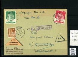 All. Bes., BiZone, Bauten Und 101-102 Als Nachnahme, Annahme Verweigert, Zurück, 05.05.51 - Zone Anglo-Américaine