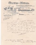 "Fattura Comm.  -  Lyon  ,  Auto - Hall  ""  Domange  &  C.ie "" - Trasporti"