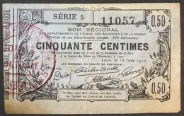 FRANCIA France 50 CENTESIMI Centimes 16 06 1916 BON REGIONAL Lotto.1438 - 1871-1952 Gedurende De XXste In Omloop