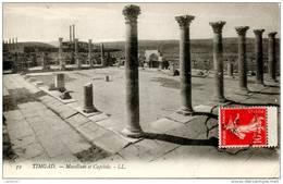 ALGERIE Ruines Romaines De TIMGAD Macellum Et Capitole - Otros
