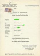 FISCAUX SUISSE CASIER JUDICIAIRE 1960 MONACO SERIE UNIFIEE 50F ORANGE - Fiscaux