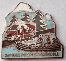 SAPEURS POMPIERS - GRENOBLE - FRANCE - CANOE - FIREFIGHTERS - FEUERWEHRLEUTE - BOMBEROS - TRUCK- (25) - Bomberos