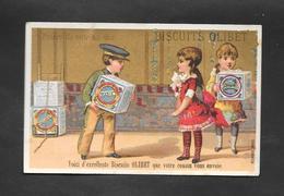 Chromo Doré BOGNARD Biscuits OLIBET ''Voici D'excellents Biscuits..'' OTTIMO STATO - Confetteria & Biscotti
