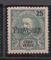 Cabo Verde, 1902/3, # 74, MH - Islas De Cabo Verde