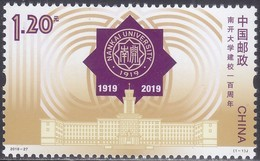 CHINA 2019 (2019-27) Michel 5148   - Mint Never Hinged - Neuf Sans Charniere - Unused Stamps