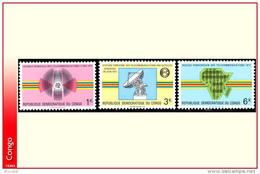 Congo 0782/84** Telecommunications  MNH - Mint/hinged