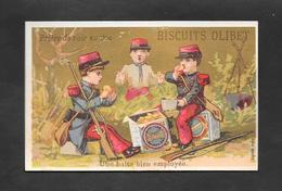 Chromo Doré BOGNARD Biscuits OLIBET  ''Une Halte Bien Employée'' OTTIMO STATO - Confetteria & Biscotti