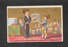 Chromo Doré BOGNARD Biscuits OLIBET  ''La Plus Haute Recompense'' OTTIMO STATO - Sonstige