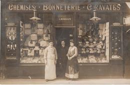 """PARIS 19eme  ( Chemiserie Bonneterie  L MONDOLFO . """" ) CARTE PHOTO - Arrondissement: 19"""