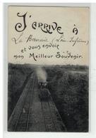 44 LA BERNERIE J ARRIVE A ... TRAIN LOCOMOTIVE FANTAISIE - La Bernerie-en-Retz