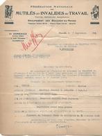 Demande D'Appareillage - Accident Du Travail - 1943 - Vieux Papiers