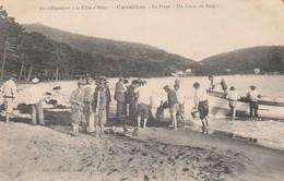 CPA  83 CAVALIERE LE LAVANDOU UN COUP DE PECHE DE BARGIN - Le Lavandou