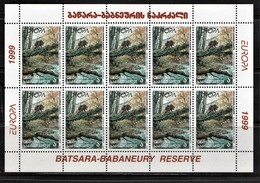 (621)  Georgien--CEPT 1999 / Kleinbogensatz Postfrisch **/ MNH,  Sehr Gute Qualität, Michel 40 Euro - 1999