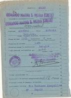 1942 COMANDO MARINA MILITARE SAN NICOLA CRETA - 1900-44 Vittorio Emanuele III