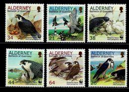 WWF - ALDERNEY   -  BIRDS  -  2000 -  6 V. -MNH  - - Unused Stamps