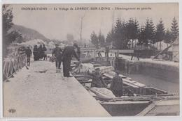 LORROY-SUR-LOING - Inondations Déménagement D'une Péniche Ecluse ELD - Frankreich