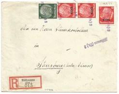 Sk999 - MULHAUSEN (ELS.) 3 = MULHOUSE Rue De FRANCE - 1940 - Recommandé - Tarif Lettre 42 Pfg - Provisoire - - Marcophilie (Lettres)