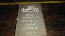 .DE MERKEN OP PORSELEIN , ENZ .....  _  BOEK MET VEEL AFBEELDINGEN  .... _ ANNO : BERLIN 1915_____ BOX : L - Ceramics & Pottery