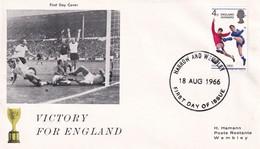 United Kingdom UK 1966 Cover: Football Soccer Calcio Fussball; Fifa World Cup England; Victory For England; Wembley - 1966 – Inglaterra