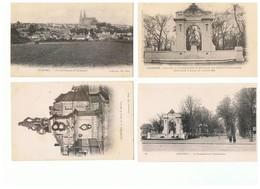 2020-635 56cp Chartres 4 Dos Non Divisé+15+cathédrale 22 DnD+12+maison Picassiéte 3 Dep 27 Vente Retirée Le 30-05 - Chartres