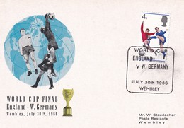 United Kingdom UK 1966 Card: Football Soccer Calcio Fussball; Fifa World Cup England Final England - W. Germany; Wembley - 1966 – Inglaterra