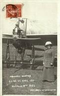 CARTE PHOTO PERIGUEUX AVIATION AVRIL 1911 AVIATRICE MADAME NIEL - Périgueux