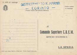 1942 DISTACCAMENTO R MARINA CORINTO  GRECIA - 1900-44 Vittorio Emanuele III